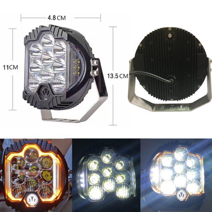 Arbetsljus LED XW-50CDL-CREE-mått