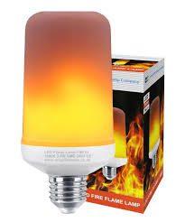Flammande LED-lampa E27